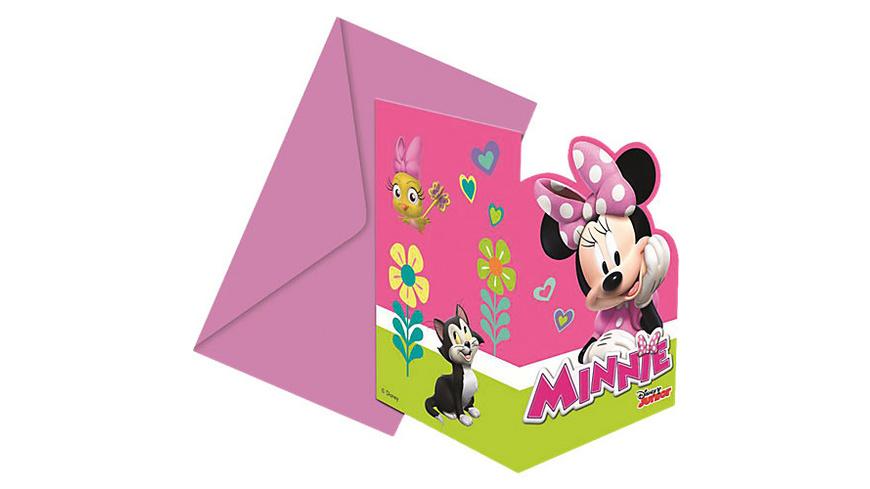 gestanzte Einladungskarten mit Umschlägen Minnie Happy Helpers, 6 Stück
