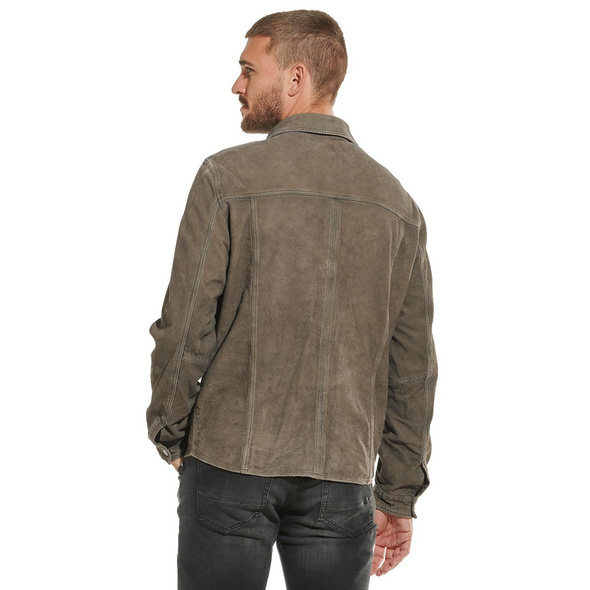 Overshirt aus Leder