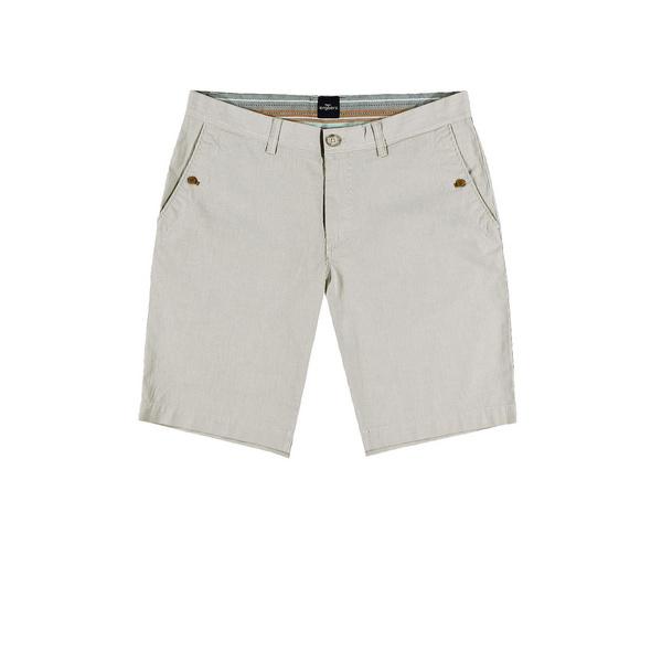 Chino-Shorts in Seersucker-Optik