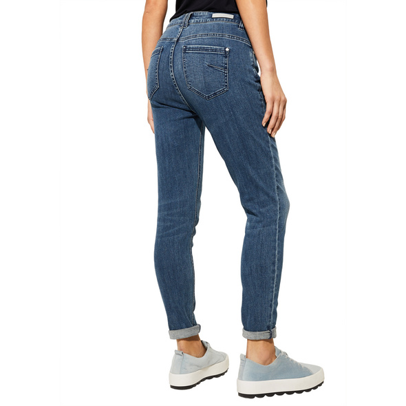Regular Fit: Slim leg-Denim mit Wascheffekt - Denim
