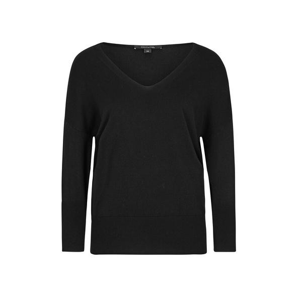 V-Neck-Pullover mit Fledermausarm - Pullover