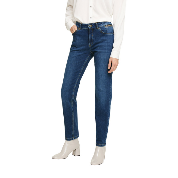 Stretchjeans mit Waschung - Ankle-Denim