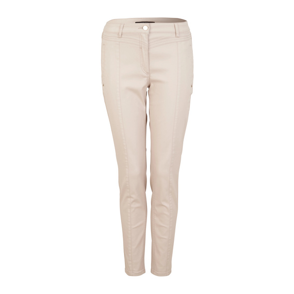 Skinny Fit: Beschichtete Jeans - Stretchjeans