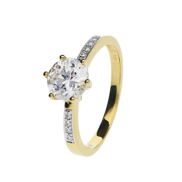 Ring Zirkonia Gold