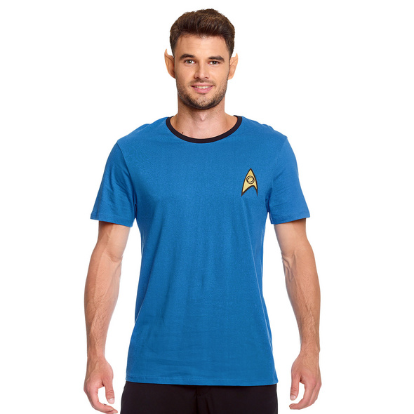 Star Trek - Mister Spock Uniform T-Shirt blau