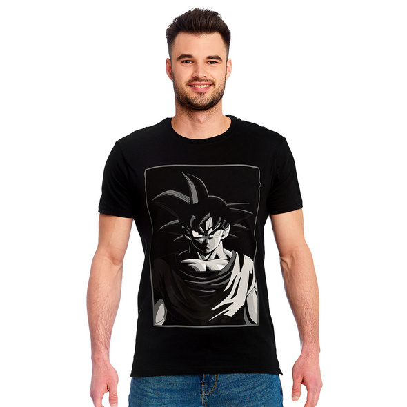 Dragon Ball - Goku Manga Face T-Shirt schwarz