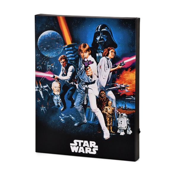 Star Wars - A New Hope Wandbild mit Licht