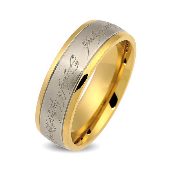 Herr der Ringe - Der Eine Ring Edelstahl vergoldet