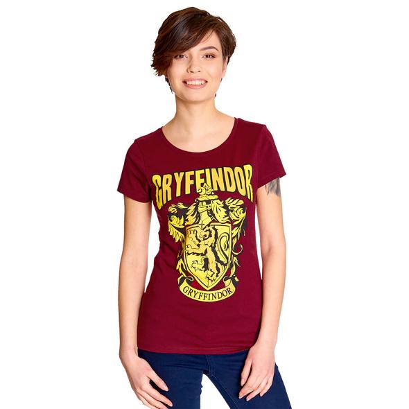 Harry Potter - Gryffindor Wappen T-Shirt Damen rot