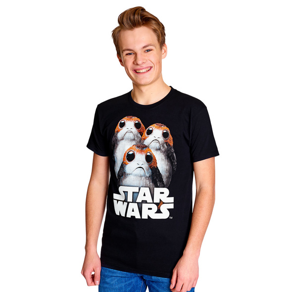 Star Wars - Triple Porg T-Shirt schwarz
