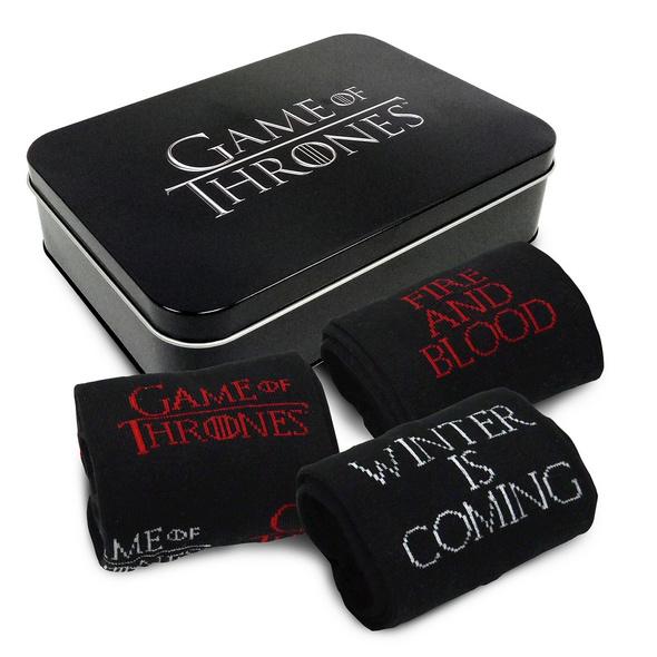 Game of Thrones - Socken 3er Set in Metallbox