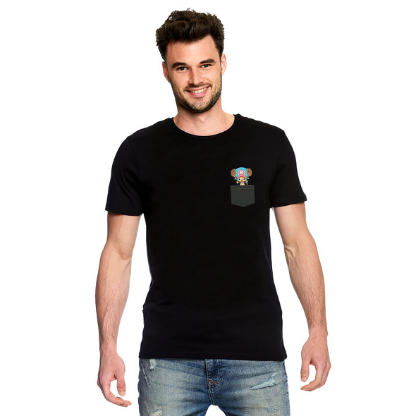 One Piece - Pocket Chopper T-Shirt schwarz