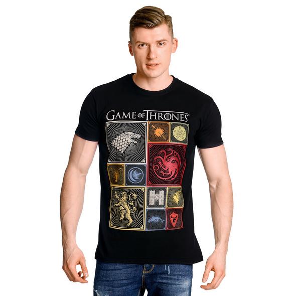 Game of Thrones - Häuser Wappen T-Shirt schwarz