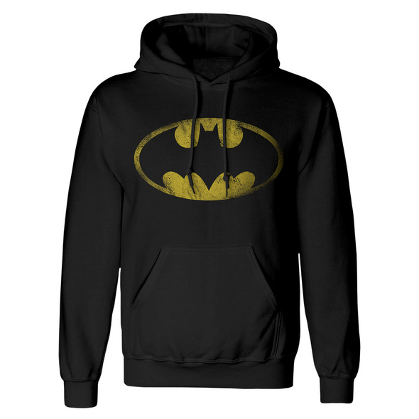 Batman - Distressed Bat Logo Hoodie schwarz