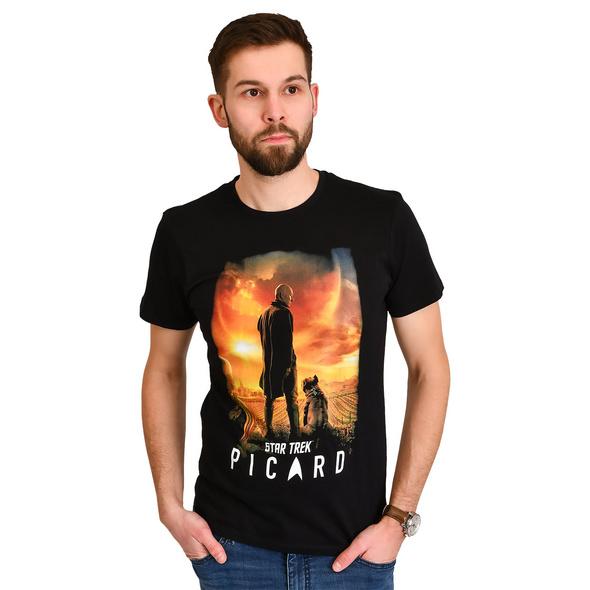 Star Trek - Picard Poster T-Shirt schwarz