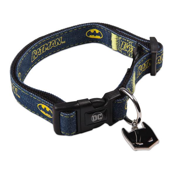 Batman Klick-Halsband für Hunde blau
