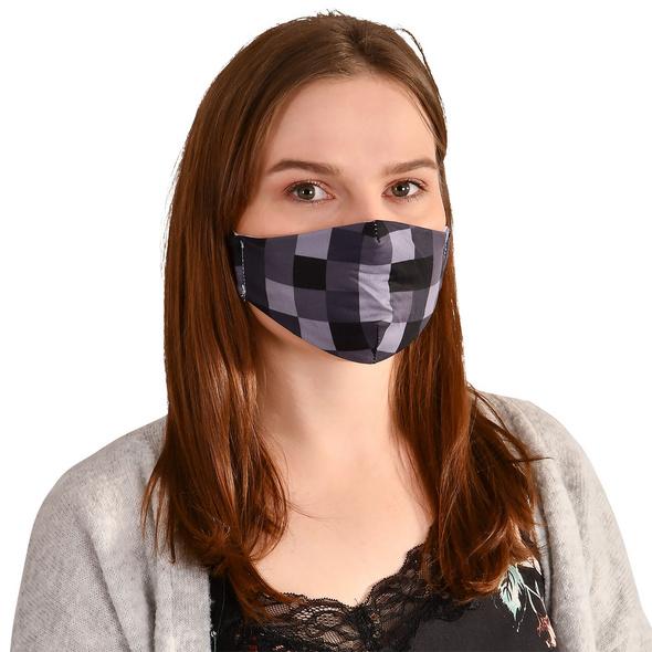 Pixel Gesichtsmaske für Minecraft Fans grau