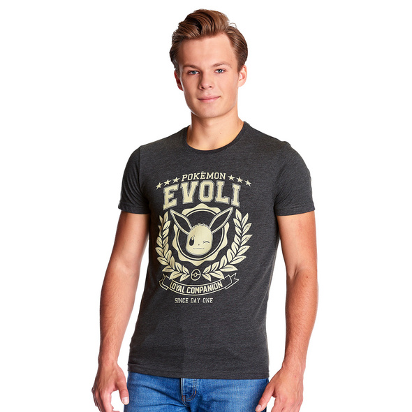 Pokemon - Evoli Loyal Companion T-Shirt grau