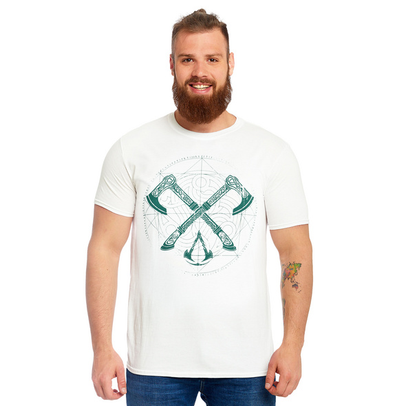 Assassins Creed - Valhalla Crossaxe T-Shirt weiß