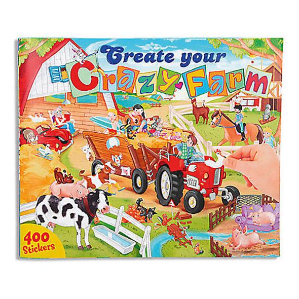 Create your Crazy Farm Malbuch mit Stickern