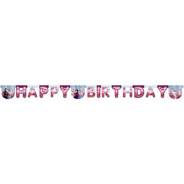 Girlande mit Schriftzug Happy Birthday Disney Die Eiskönigin 2, 1 Stück