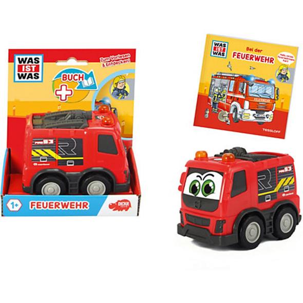 Was ist Was - Feuerwehr, Buch + Auto