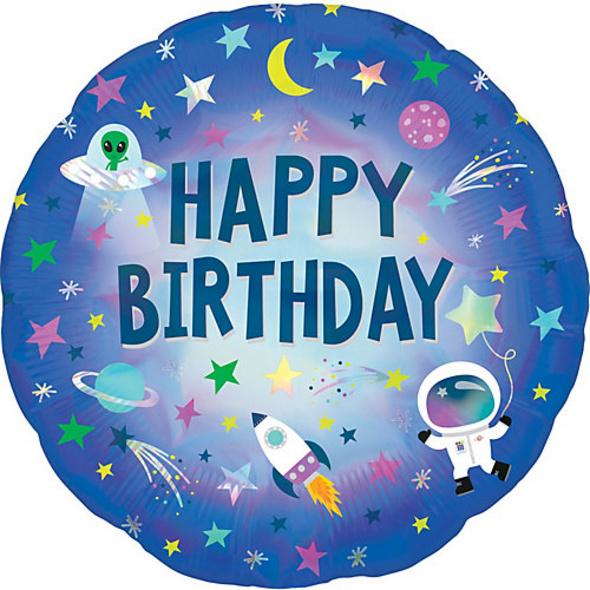 Folienballon Holographic Außerirdischer Geburtstag