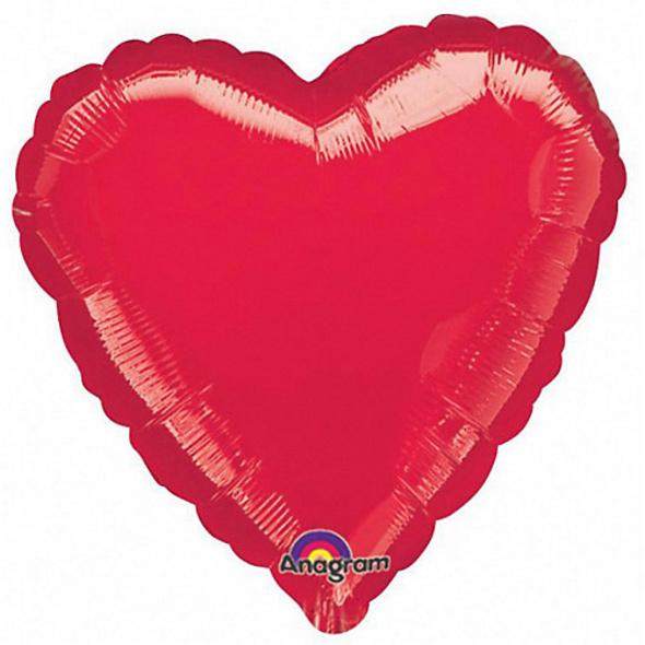 Folienballon Herz, rot