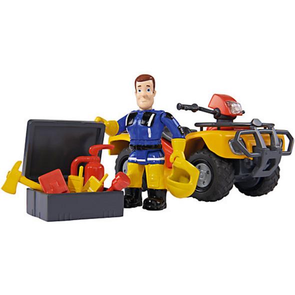 Feuerwehrmann Sam Mercury-Quad mit Figur
