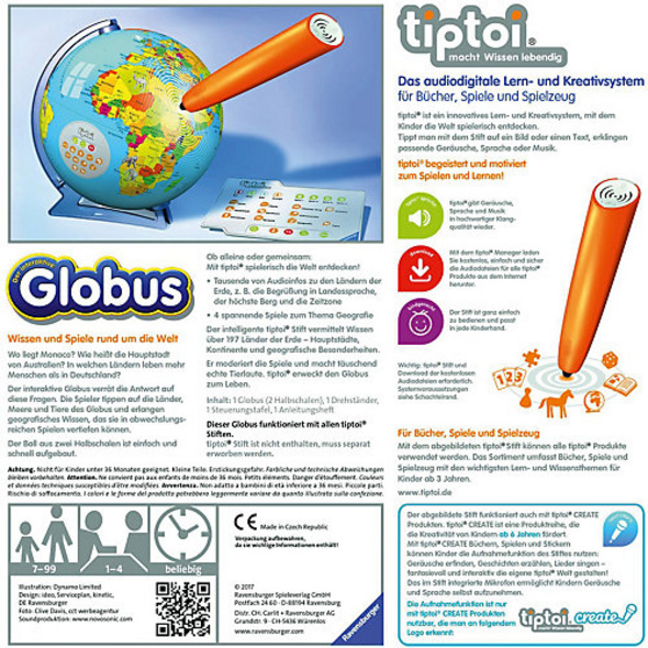 tiptoi® interaktiver Globus (ohne Stift)