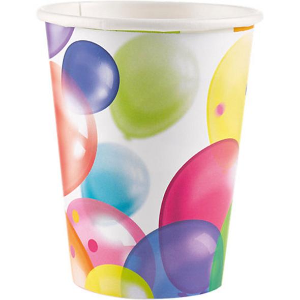 Becher Papier Ballons, 8 Stück