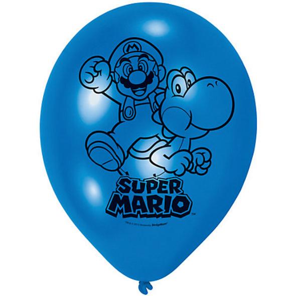 Luftballon Super Mario, 6 Stück