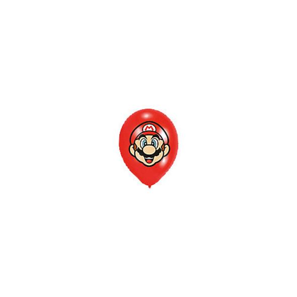 Ballons Super Mario 28 cm, 6 Stück
