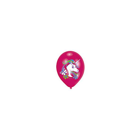 Luftballon Einhorn, 6 Stück
