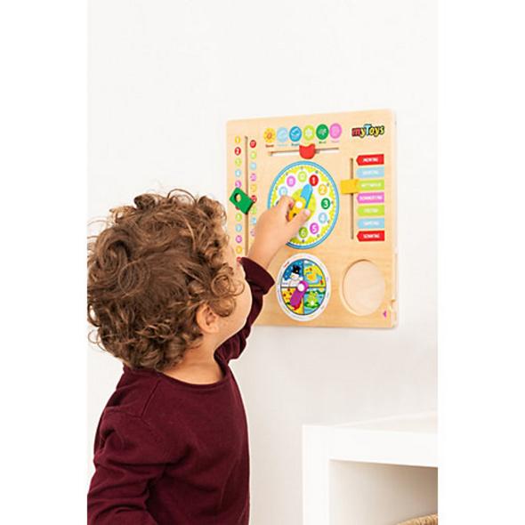 myToys Kalenderuhr aus Holz