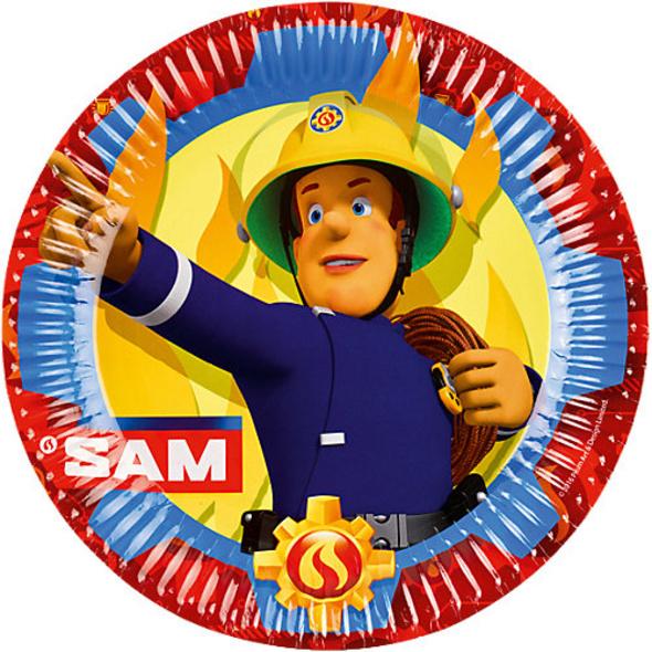 Teller Fireman Sam 2017 23 cm, 8 Stück