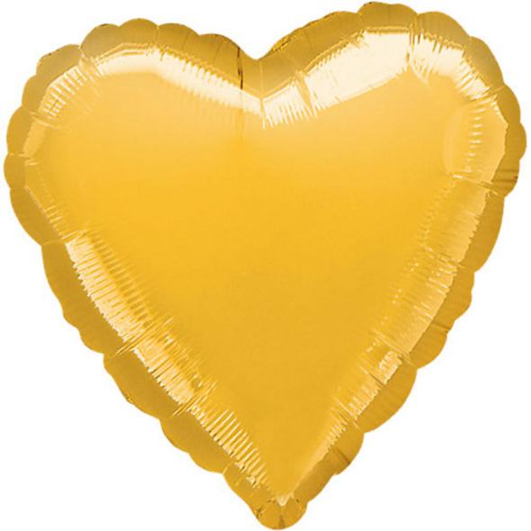 "Folienballon Herz ""Gold Metallic"", 43cm"