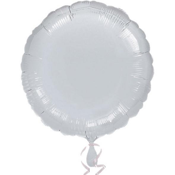 "Folienballon ""Silber Metallic"", 43cm"