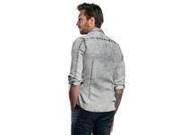 Langarmhemd mit speziellem Färbeverfahren