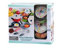 Kochgeschirr für Spielküche, 15 Teile