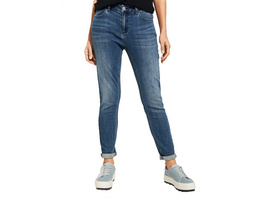 Regular Fit: Slim leg-Denim mit Wascheffekt - Denim