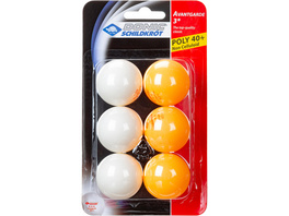 Donic-Schildkröt 3STERN POLY 40+ 6er Tischtennisball