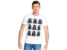 Star Wars - Darth Vader Multiface T-Shirt weiß