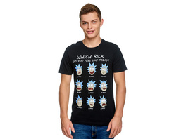 Rick and Morty - Emotions of Rick T-Shirt schwarz