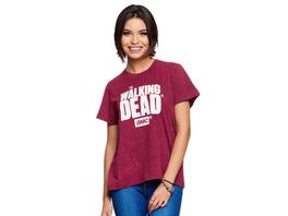 Walking Dead - Logo T-Shirt Damen rot