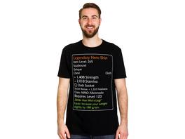 Level-120-Item Legendary Hero T-Shirt schwarz