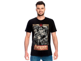 Avengers - Become A Legend Poster T-Shirt schwarz