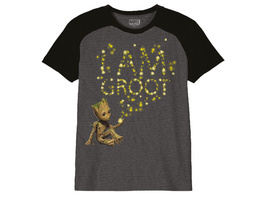 Guardians of the Galaxy - Groot Glow in the Dark T-Shirt Kinder grau