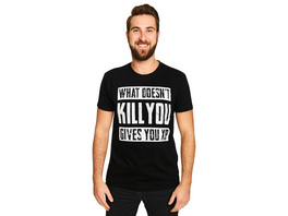 What Doesnt Kill You Gives You XP T-Shirt schwarz