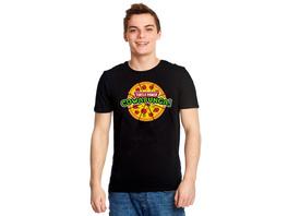 Cowabunga Pizza T-Shirt für Ninja Turtles Fans schwarz